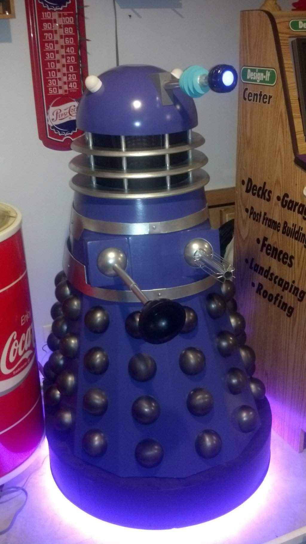 Nigel The Purple Dalek Building Nigel