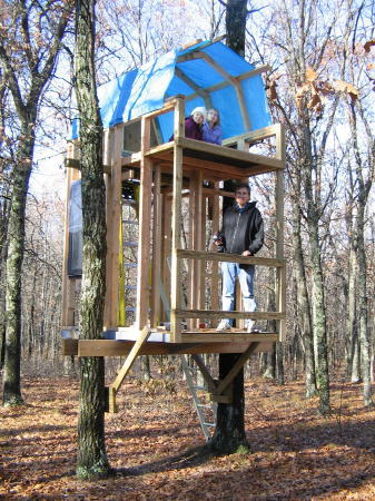 Build A Two Tree Treehouse